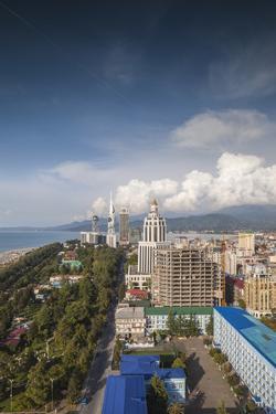 Georgia, Batumi. View of city skyline. by Walter Bibikow