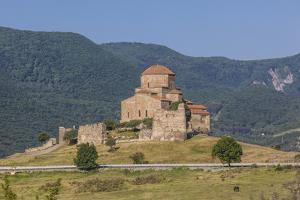 Georgia, Mtskheta. Spiritual town where Christianity was established in 327 AD, Jvari Church. by Walter Bibikow