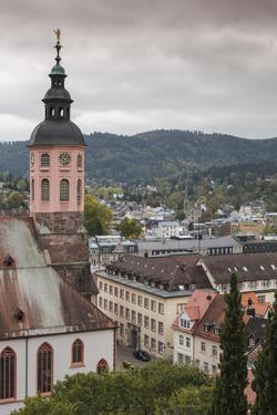 Germany, Baden-Wurttemburg, Baden-Baden, Elevated Town View by Walter Bibikow