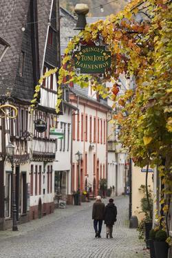 Germany, Rheinland-Pfalz, Bacharach, Town Building Detail by Walter Bibikow