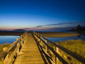 Good Harbour Beach Footbridge, Gloucester, Cape Ann, Massachusetts, USA by Walter Bibikow