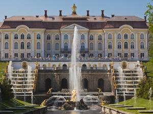 Grand Palace, Peterhof, Saint Petersburg, Russia by Walter Bibikow