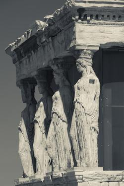 Greece, Athens, Acropolis, the Erechtheion, Porch of the Caryatids by Walter Bibikow
