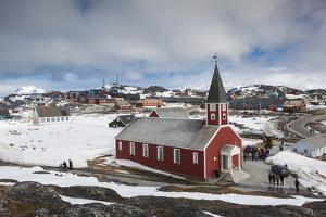 Greenland, Nuuk, Frelsers Kirche Church by Walter Bibikow