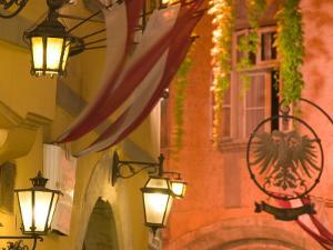 Griechengasse Cafe at Night, Vienna, Austria by Walter Bibikow