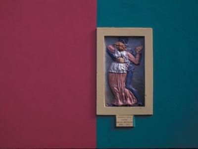 Guardia Vieja Tango, Wall Art, La Boca, The Caminito, Buenos Aires, Argentina by Walter Bibikow