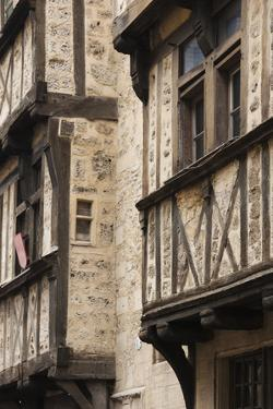 Half-Timbered House Detail, Bayeux, Normandy, France by Walter Bibikow