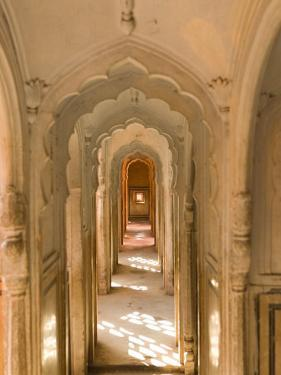Hallway of The Palace of the Winds, India by Walter Bibikow