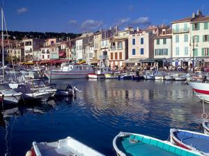Harbor View, Cassis, France by Walter Bibikow