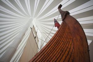 Heritage Hejmkomstviking Ship Replica, Moorhead, Minnesota, USA by Walter Bibikow