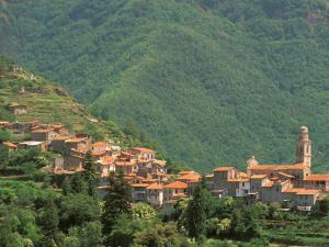 Hill Town View, Molini di Triora, Riviera di Ponente, Liguria, Italy by Walter Bibikow