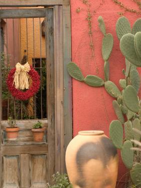 House Detail, Presidio Historic District, Tucson, Arizona, USA by Walter Bibikow