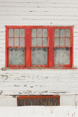 House Detail, Winter, Crested Butte, Colorado, USA by Walter Bibikow