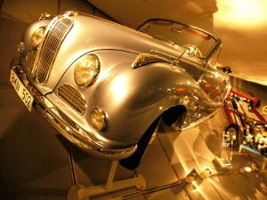Interior of BMW Car Museum, Munich, Bayern, Germany by Walter Bibikow