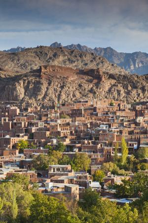 Iran, Abyaneh, Elevated Village View, Dawn by Walter Bibikow