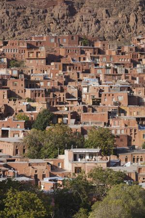 Iran, Abyaneh, Elevated Village View by Walter Bibikow
