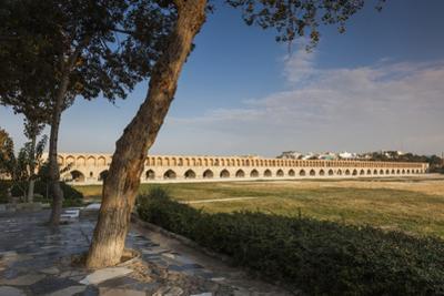 Iran, Esfahan, Si-O-Seh Bridge, Dawn by Walter Bibikow