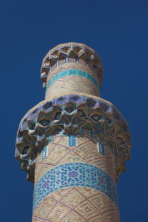 Iran, Natanz, Jameh Mosque, Minaret by Walter Bibikow