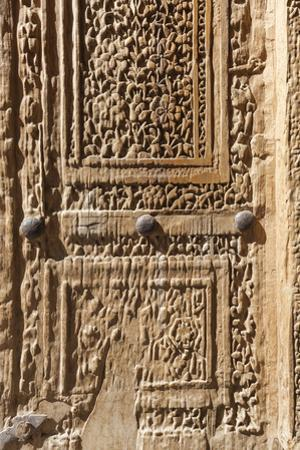 Iran, Natanz, Jameh Mosque, Old Door by Walter Bibikow