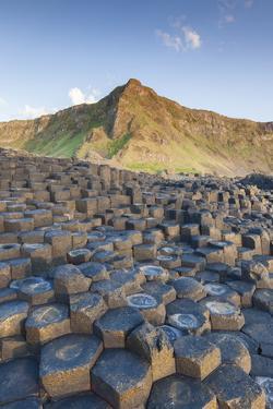 Ireland, County Antrim, Bushmills, Giants Causeway, basalt rock formation by Walter Bibikow