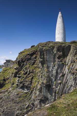 Ireland, County Cork, Baltimore, Lot's Wife, harbor entrance beacon by Walter Bibikow