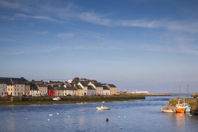 Ireland, County Galway, Galway City, port buildings of The Claddagh by Walter Bibikow