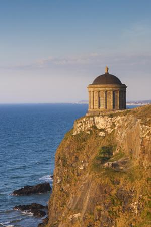 Ireland, County Londonderry, Downhill Demesne, Mussenden Temple at sunset by Walter Bibikow