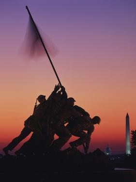 Iwo Jima Memorial at Sunset, Washington DC, USA by Walter Bibikow