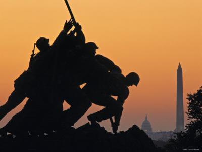 Iwo Jima Memorial, Washington D.C. Usa by Walter Bibikow
