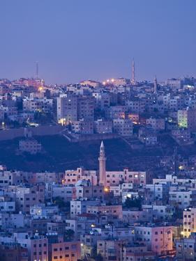 Jordan, Amman, Elevated View of Jebel Amman by Walter Bibikow