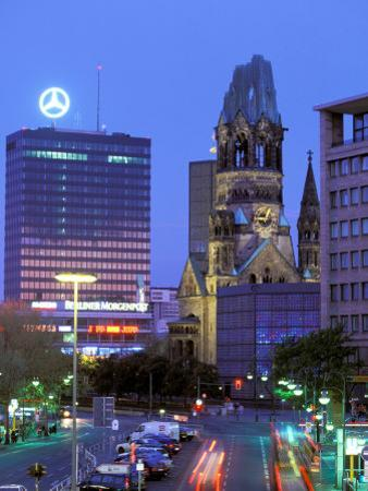Kaiser Wilhelm Memorial Church, Kurfurstendamm Area, Berlin, Germany by Walter Bibikow