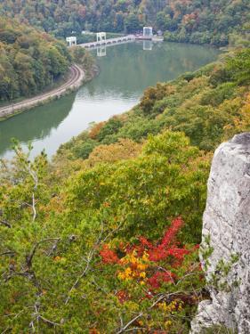 Kanawha River Overlook, Hawks Nest State Park, Anstead, West Virginia, USA by Walter Bibikow