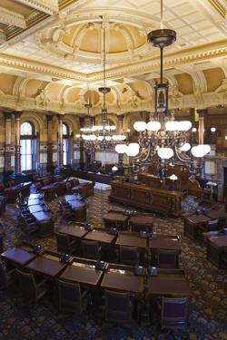 Kansas State Capital, State Senate Chamber, Topeka, Kansas, USA by Walter Bibikow