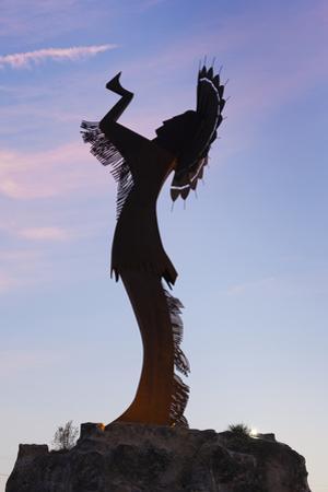 Keeper of the Plains Statue, Wichita, Kansas, USA by Walter Bibikow