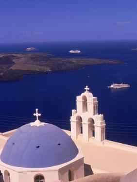 Kimisis Theotokov Church, Santorini, Greece by Walter Bibikow