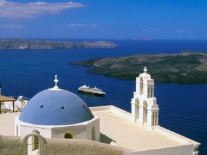 Kimisis Theotokov Church, Thira, Santorini, Cyclades Islands, Greece by Walter Bibikow