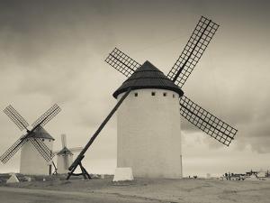 La Mancha Windmills, Campo De Criptana, Castile-La Mancha Region, Spain by Walter Bibikow