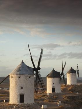 La Mancha Windmills, Consuegra, Castile-La Mancha Region, Spain by Walter Bibikow