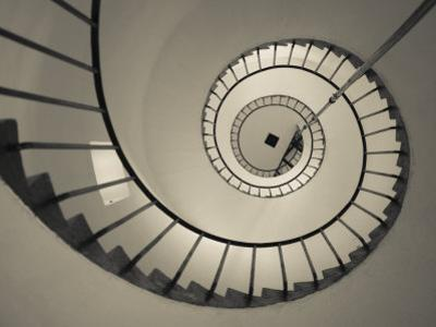 La Paloma, Atlantic Ocean Resort Town, Cabo Santa Maria Lighthouse, Interior Stairs, Uruguay by Walter Bibikow
