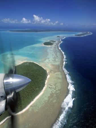 Lagoon and Beach, Aitutaki, Cook Islands by Walter Bibikow