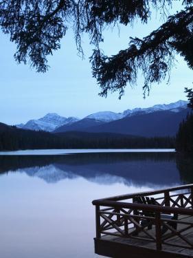 Lake Beauvert, Jasper, Jasper National Park, Alberta, Canada by Walter Bibikow