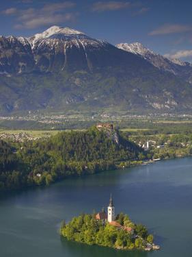 Lake Bled, Gorenjska, Slovenia by Walter Bibikow