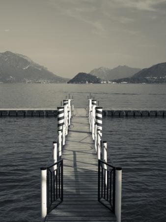Lake Pier, Tremezzo, Como Province, Italy by Walter Bibikow
