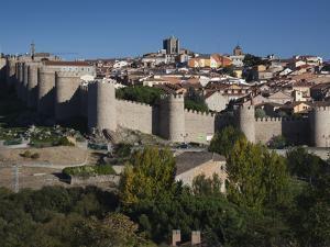 Las Murallas, Avila, Spain by Walter Bibikow
