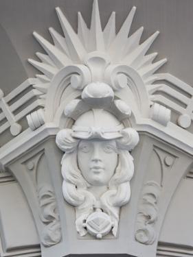 Latvia, Riga, Art Nouveau District, Elizabetes Iela Street by Walter Bibikow