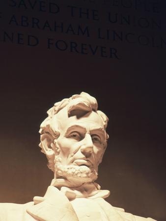 Lincoln Memorial, Abraham Lincoln Memorial Statue, Washington DC, USA by Walter Bibikow