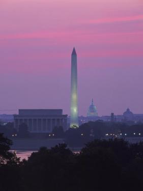 Lincoln & Washington Memorials, Dawn, DC by Walter Bibikow