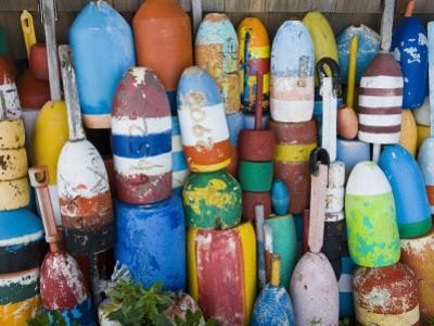 Lobster Buoys, Rockport Harbour, Rockport, Cape Ann, Massachusetts, USA by Walter Bibikow
