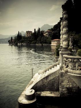 Lombardy, Lakes Region, Lake Como, Varenna, Villa Monastero, Gardens and Lakefront, Italy by Walter Bibikow