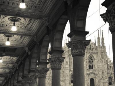 Lombardy, Milan, Piazza Del Duomo, Duomo, Cathedral, Dawn, Italy by Walter Bibikow